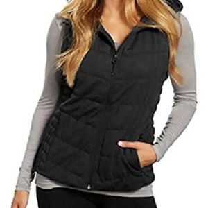Be by Blanc Noir Ladies Charcoal Hooded Vest